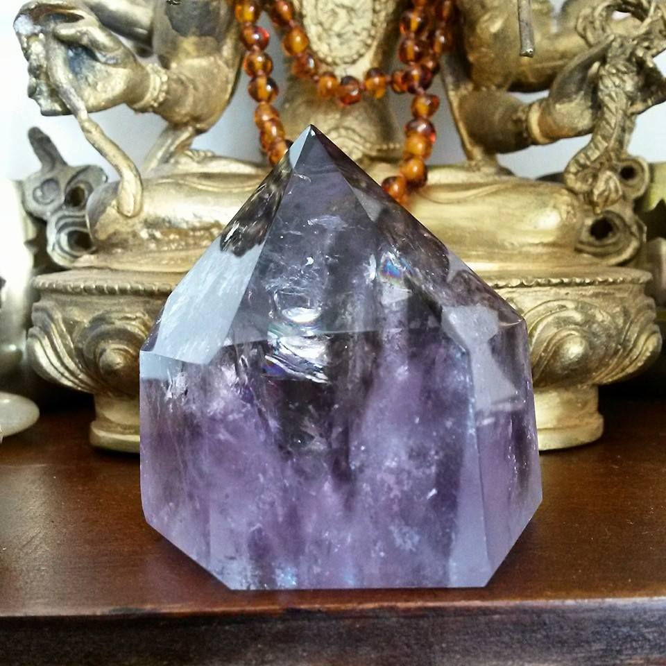 Amethyst Crystal Point for spirituality and psychic protection