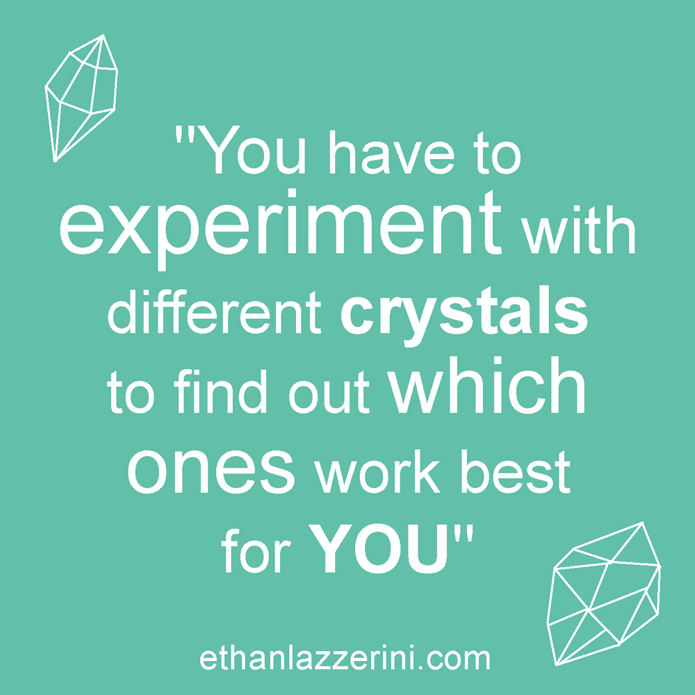 Experiment with crystals quote