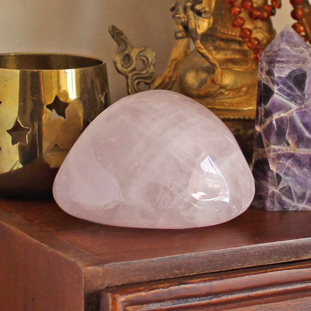 Rose Quartz can be used to bring comfort and heal emotional stress
