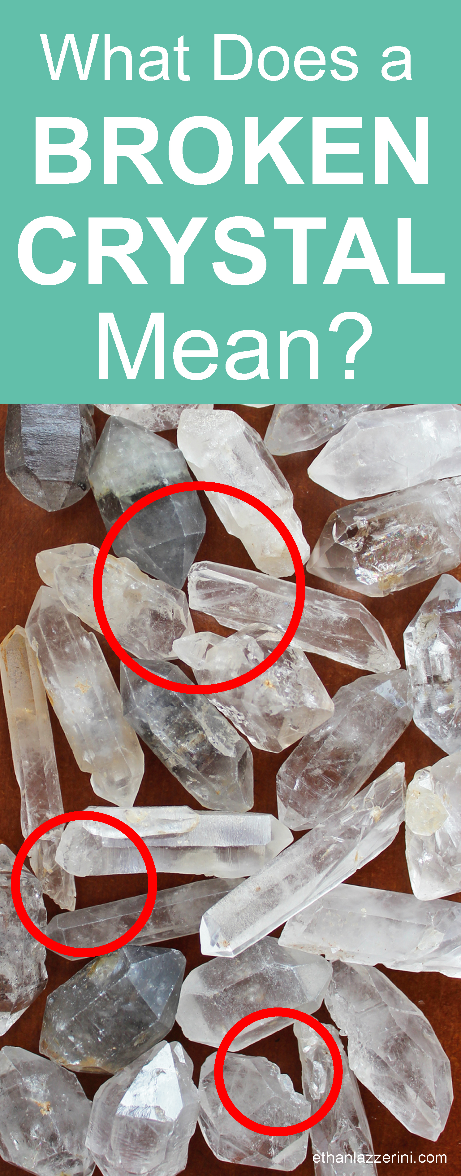 What does a broken crystal mean?