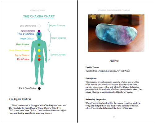 Chakra Crystals Book Interior