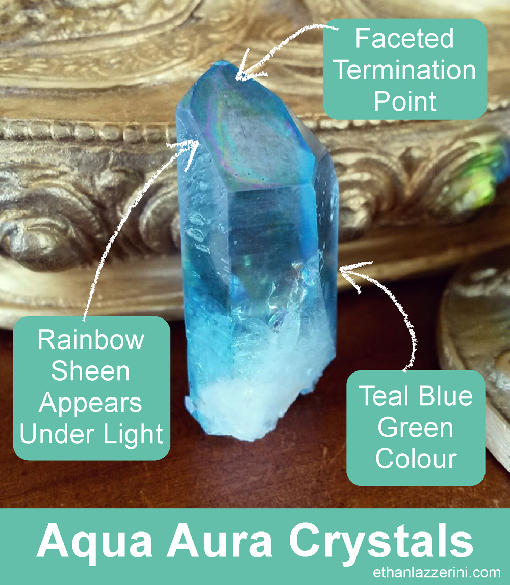How to identify an Aqua Aura Quartz Crystal
