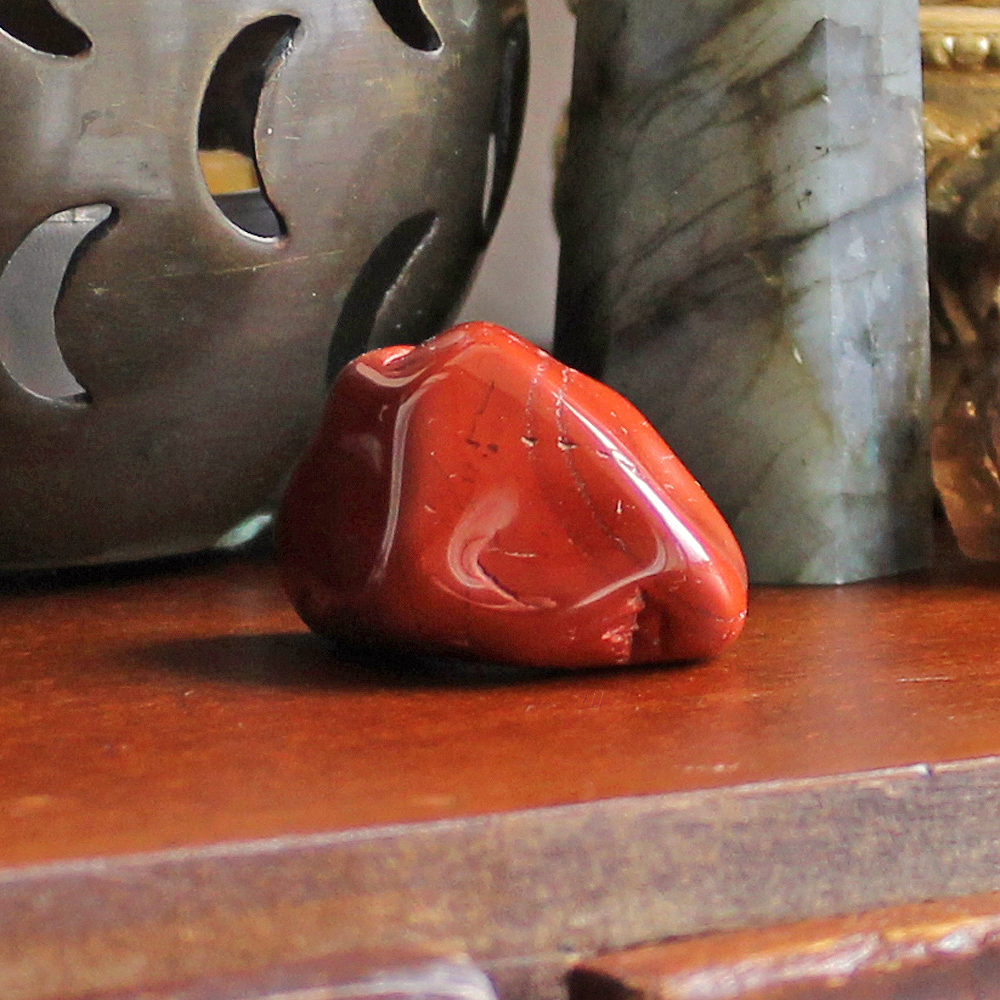Red Jasper Tumble Stone for grounding and protection