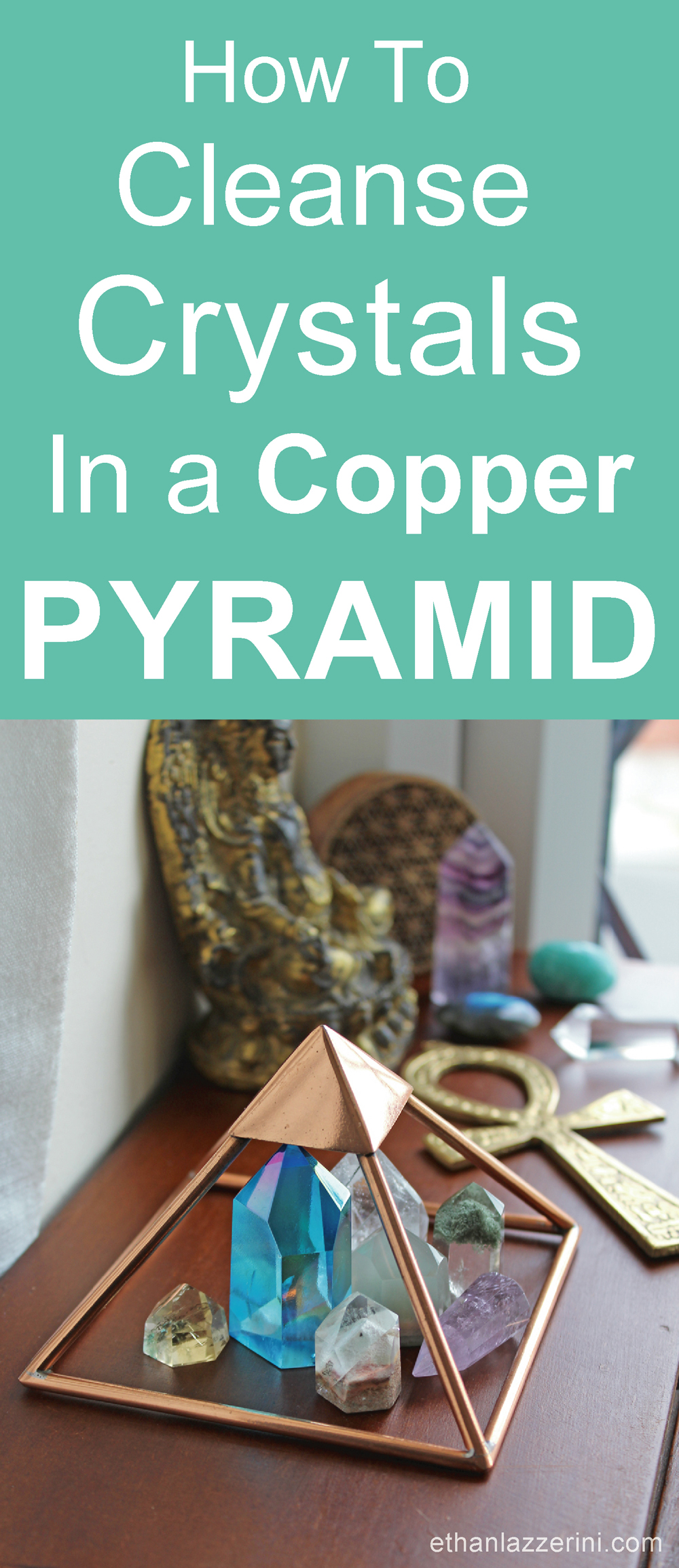 Cleanse Crystals in a Copper Pyramid