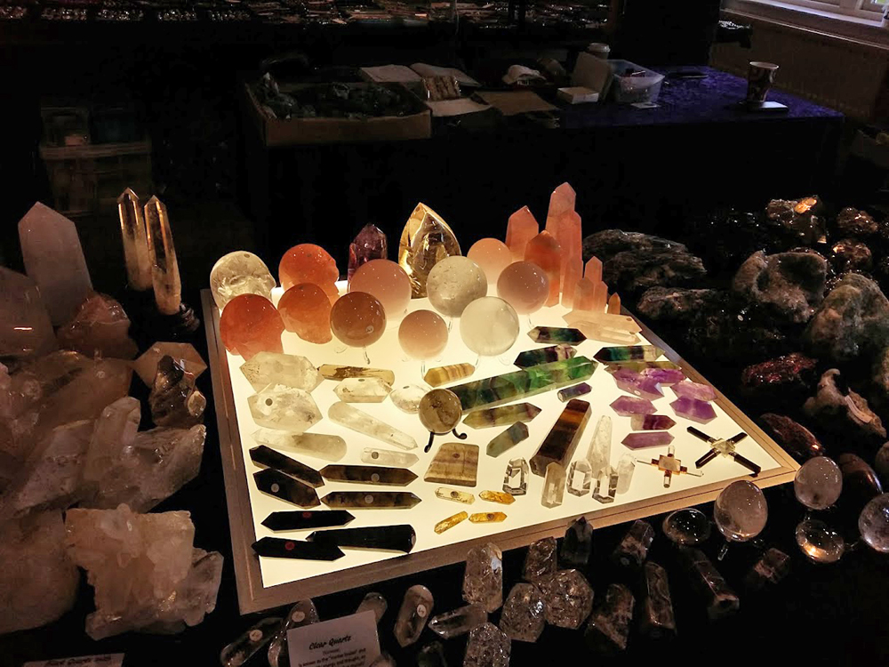 Crystal Spheres, Wands, Points and Flames on a lightbox