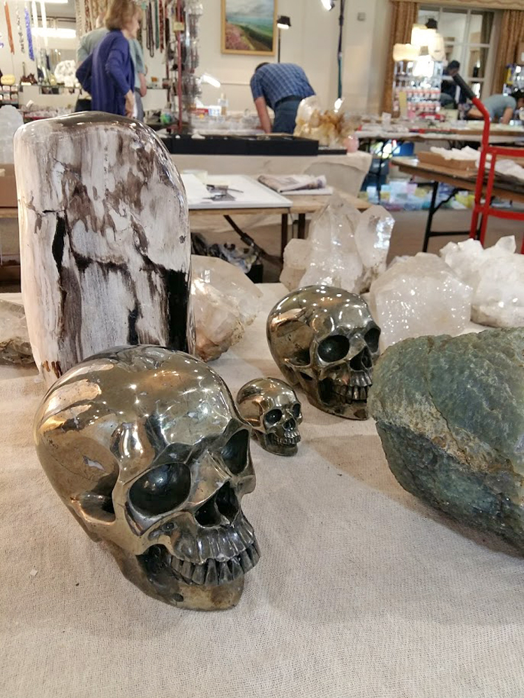 Huge Pyrite Crystal Skull plus other treasures of the Earth
