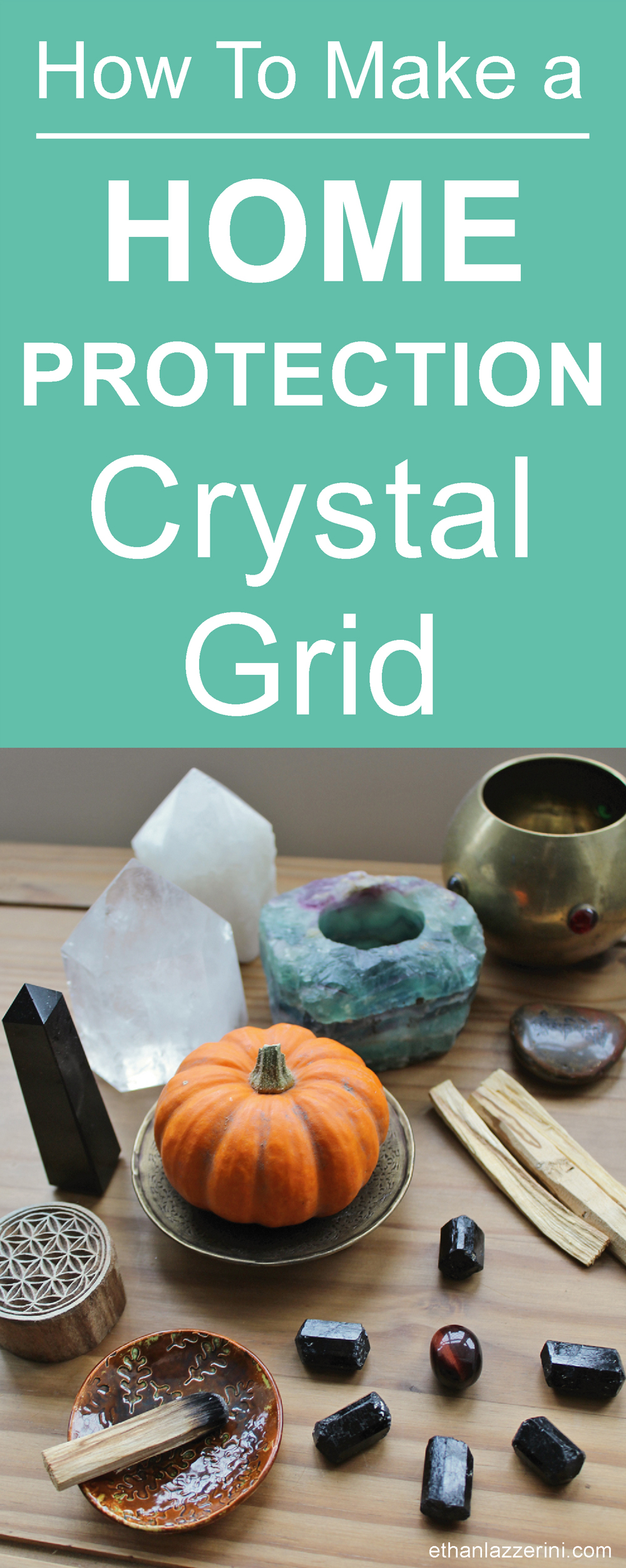 Home Protection Crystal Grid