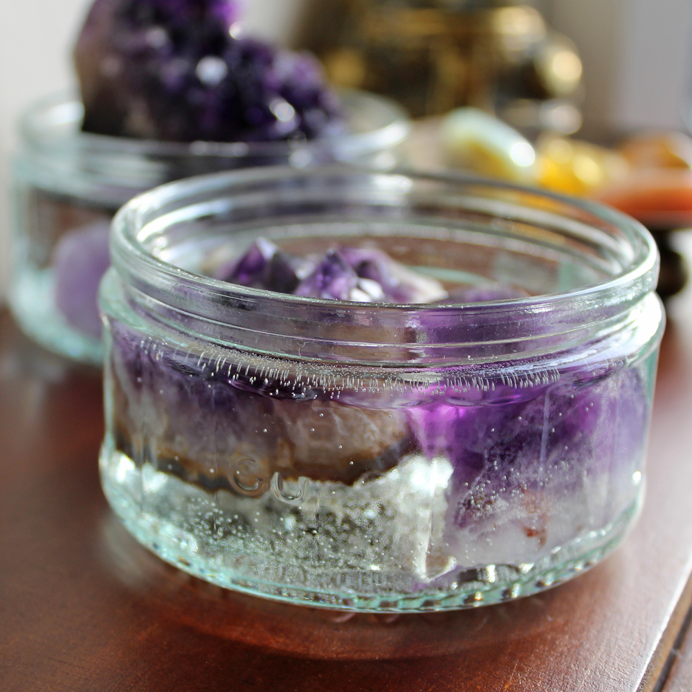 cleanse crystals in water?