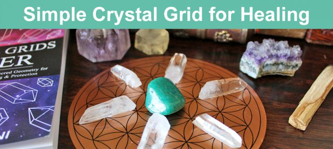 Simple Crystal Grid for Healing with Free Crystal Grid Template