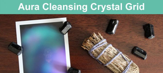 Aura Cleansing Crystal Grid with Black Tourmaline