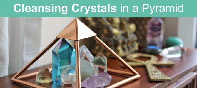 Cleansing Crystals With a Copper Pyramid