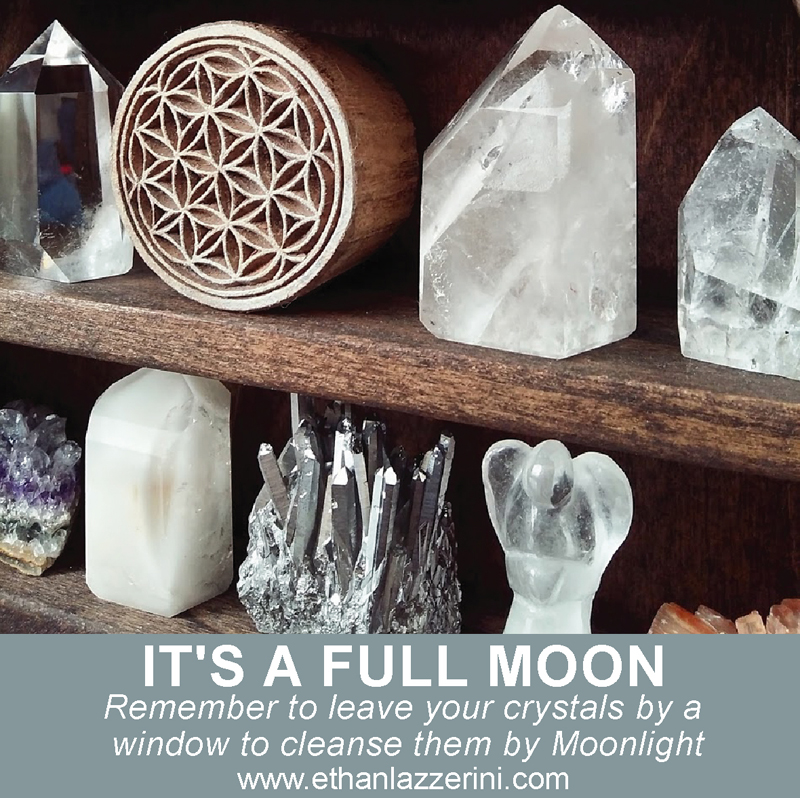 Cleanse Crystals By The Full Moon