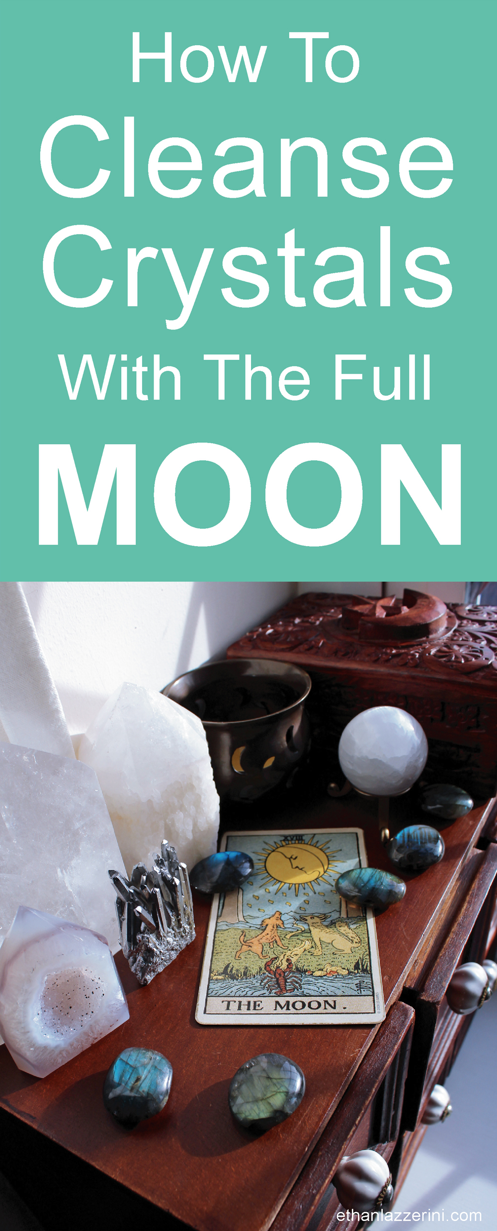 How to cleanse crystals with the full moon