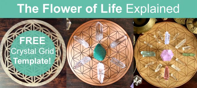 Flower Of Life Crystal Grid Meaning – Free Crystal Grid Template