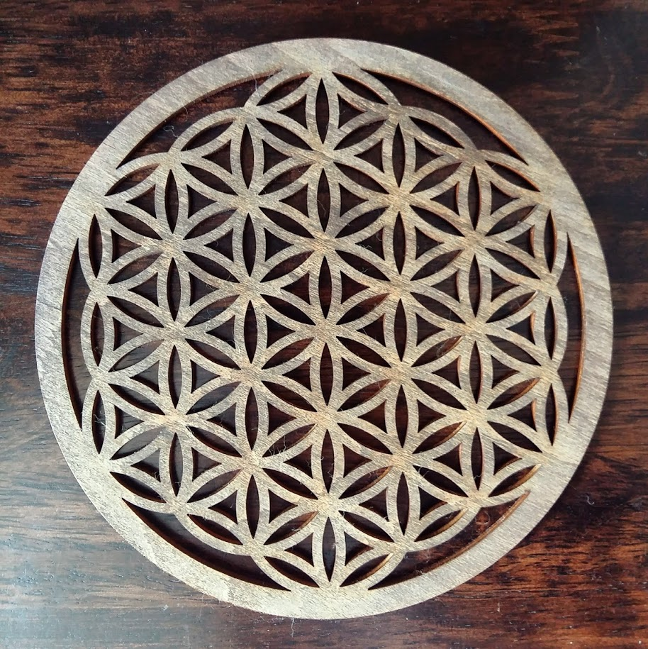 Carved wood Flower of Life