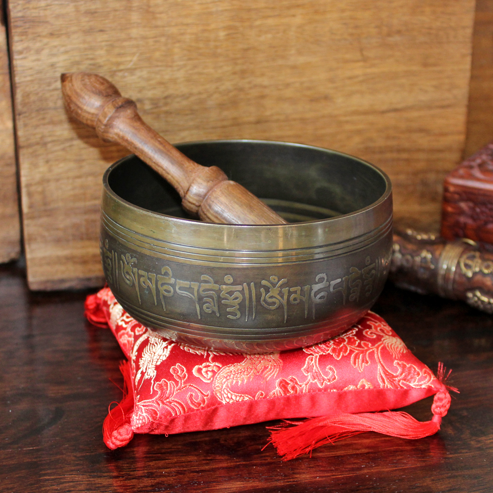 Tibetan Singing Bowl with mantras