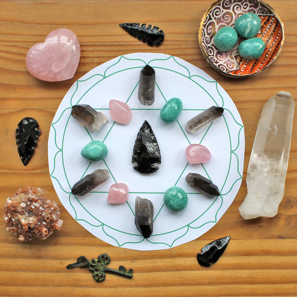 Finished crystal grid for letting go of your ex