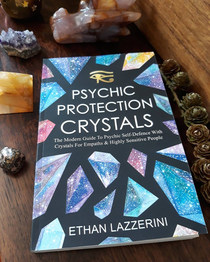 Psychic protection crystals book by Ethan Lazzerini