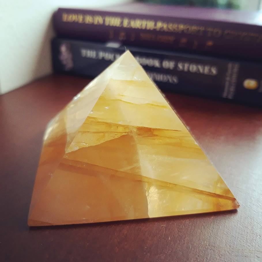 Golden Healer Quartz Crystal Pyramid