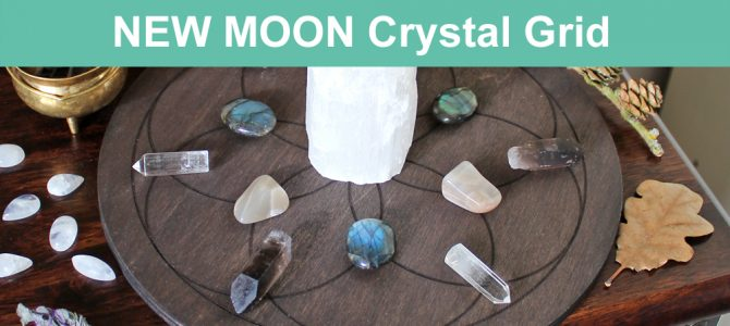 New Moon Crystal Grid For Your New Moon Rituals & Manifesting