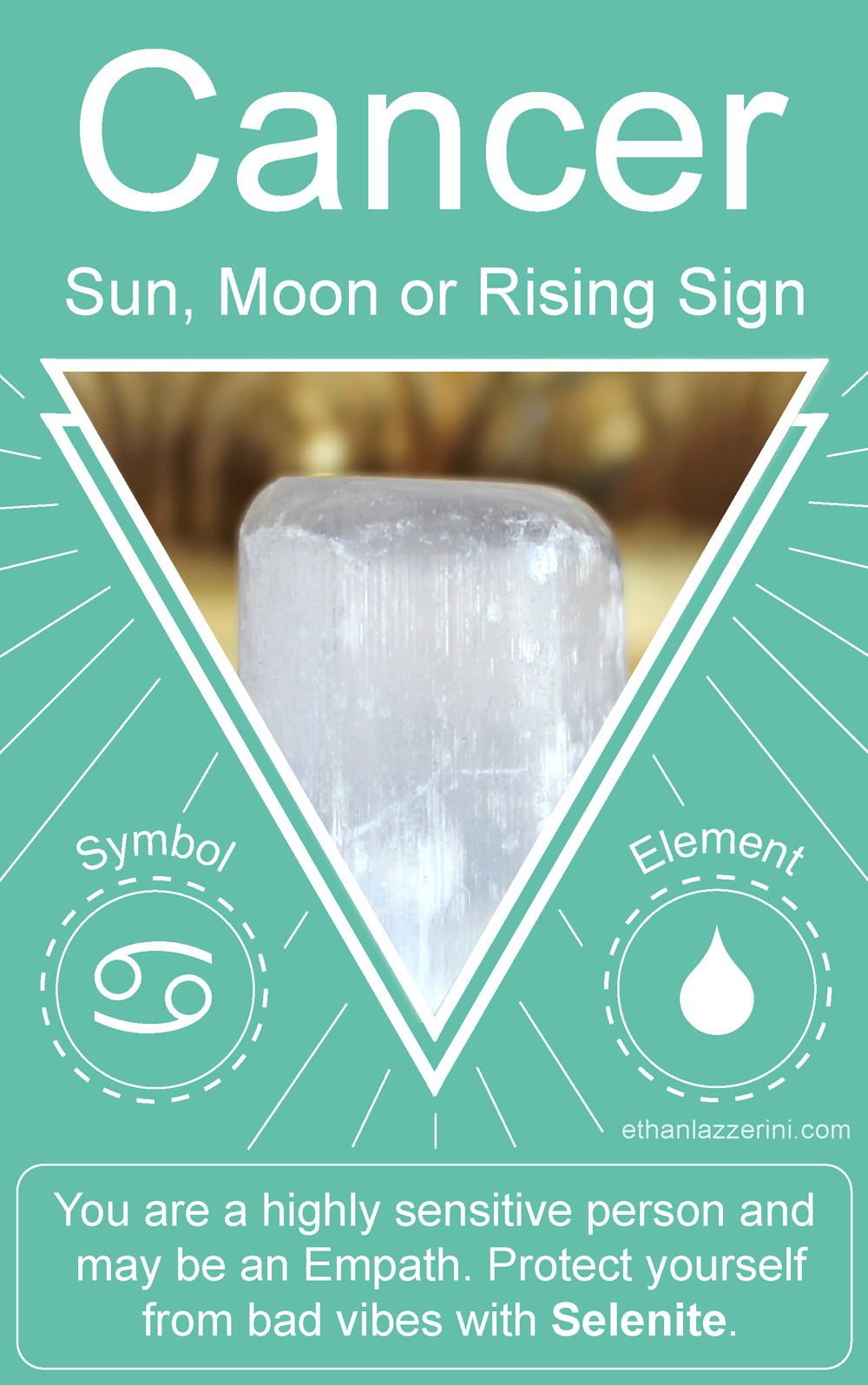 Cancer Empath Crystal