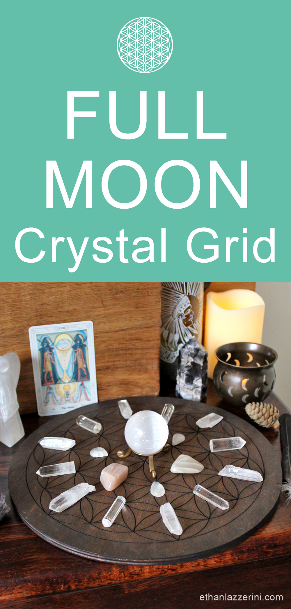 Full Moon Crystal Grid