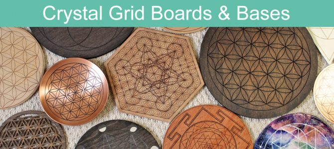 A Guide to Crystal Grid Boards, Cloths, Templates & Bases
