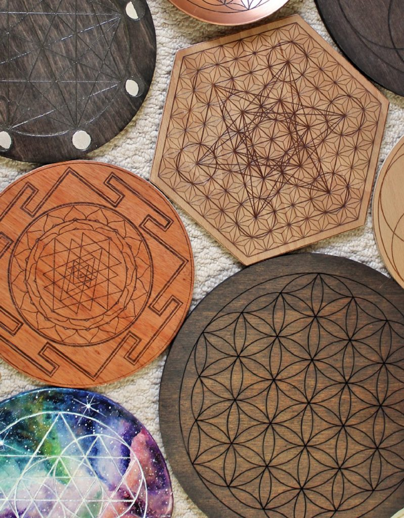 Lots of crystal grid bases and boards