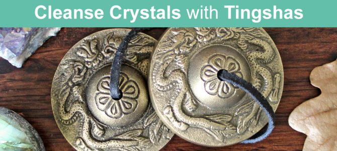 How To Cleanse Crystals With Tingshas (Tingsha Chimes Tibetan Cymbals)