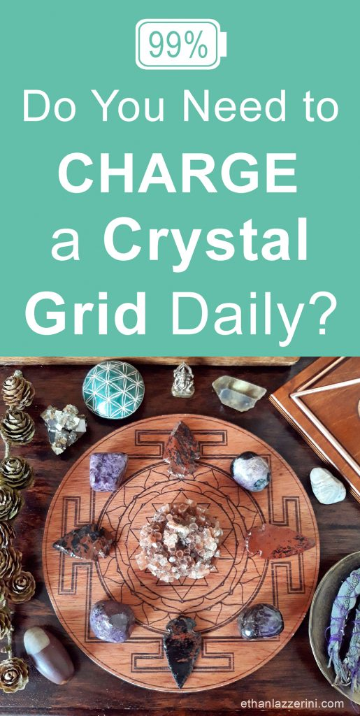 charge a crystal grid