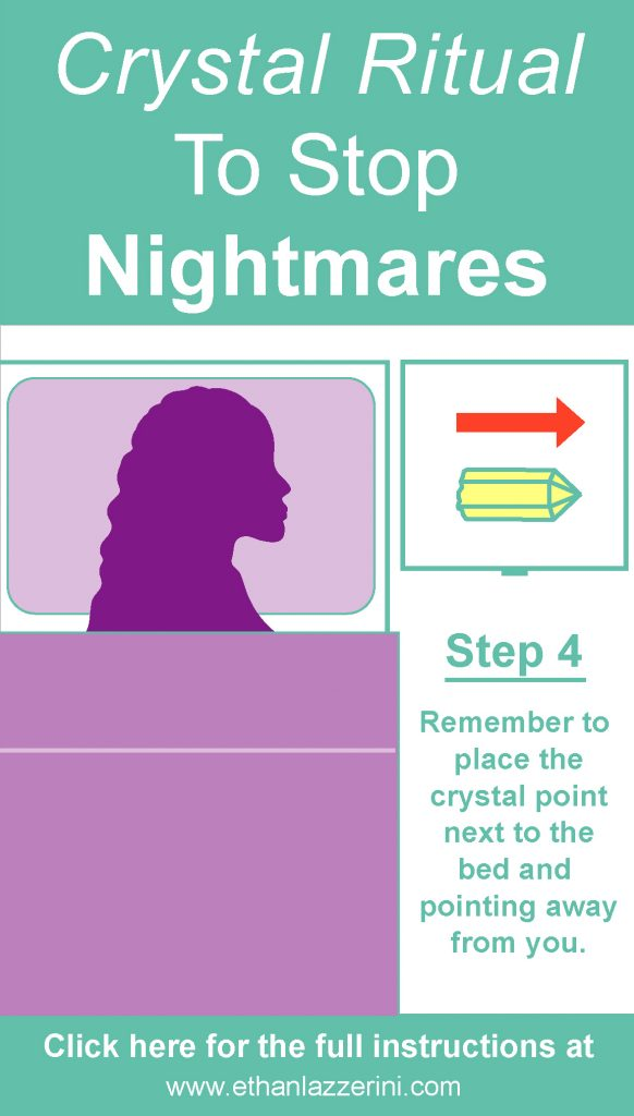 Diagram of how to use a crystal to stop nightmares