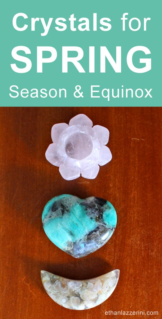 Crystals for Spring, Rose Quartz, Amazonite and Flower Agate