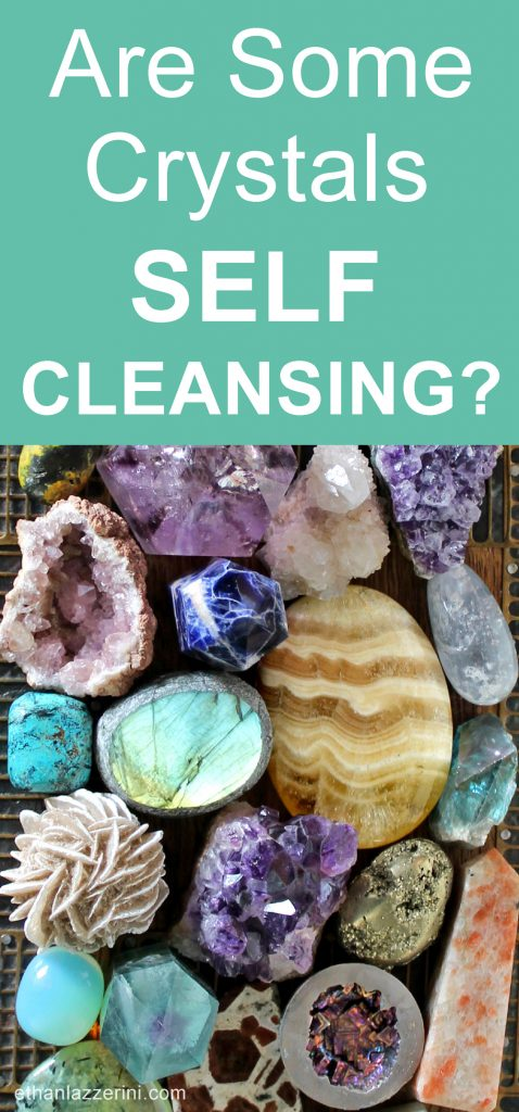 Self cleansing crystals