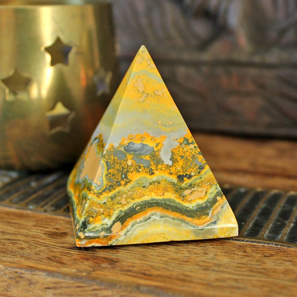 Bumblebee Jasper pyramid aka Eclipse Stone