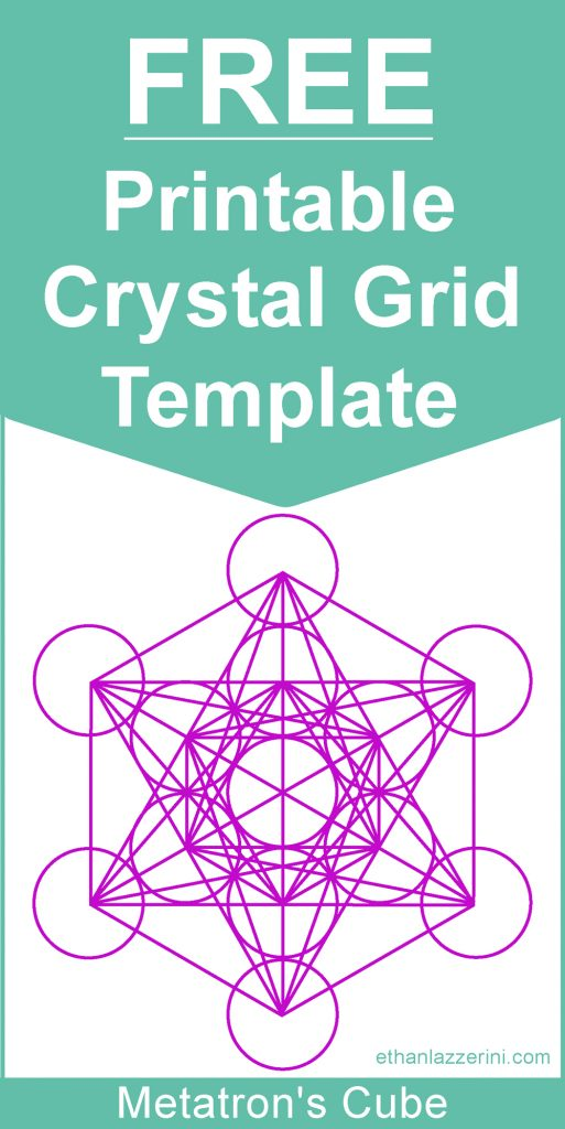 Metatrons cube crystal grid template free download
