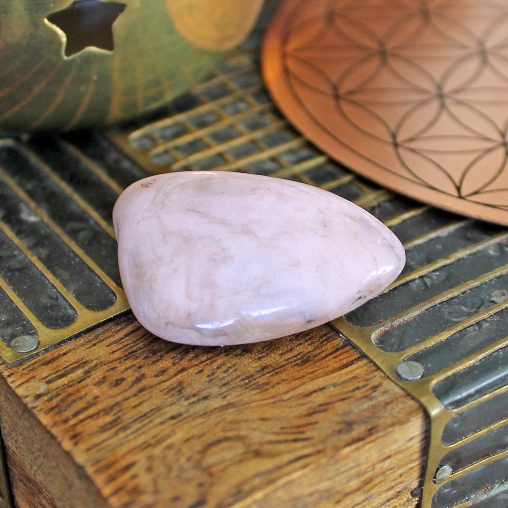 Non-gem quality Kunzite tumble stone