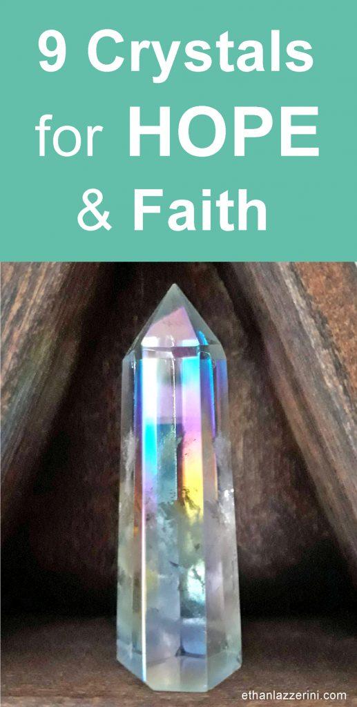 9 Crystals for hope and faith. Angel aura crystal point