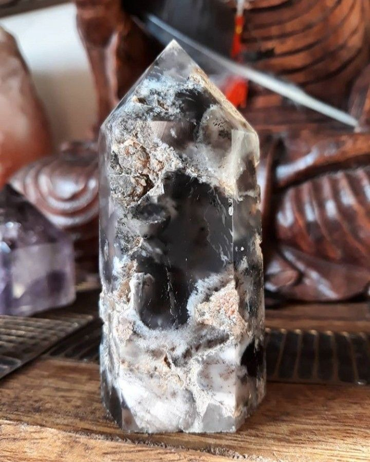 Merlinite crystal tower
