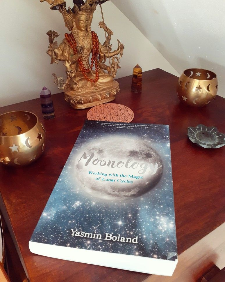 Moonology Book on an altar