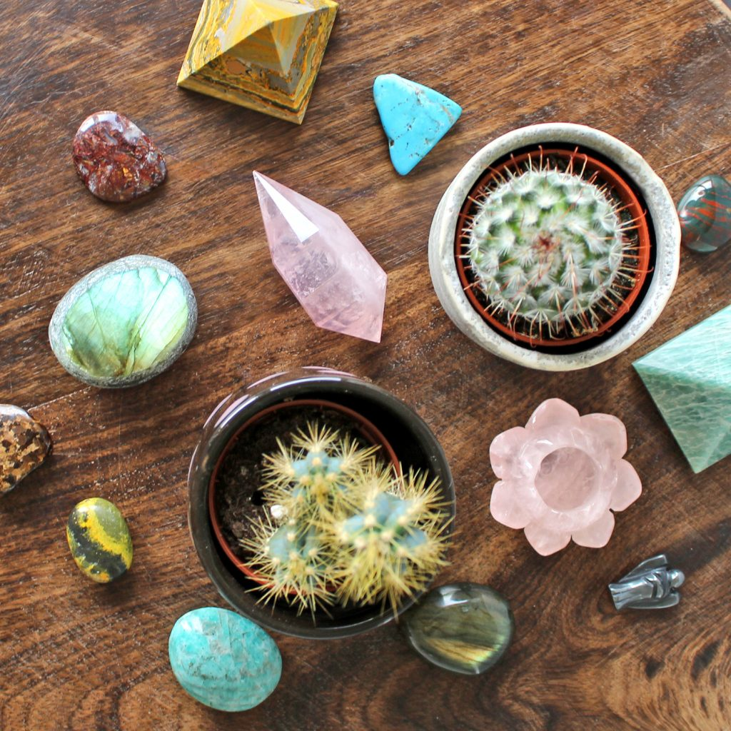 Crystals and cactus