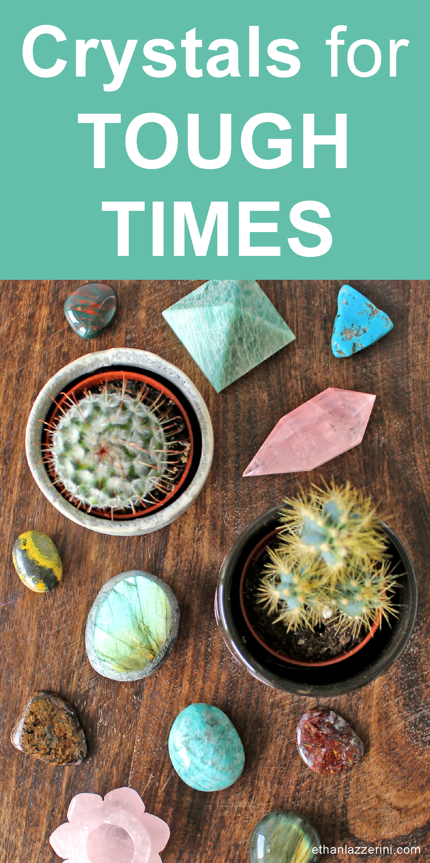 Crystals for tough times. Crystals and cacti