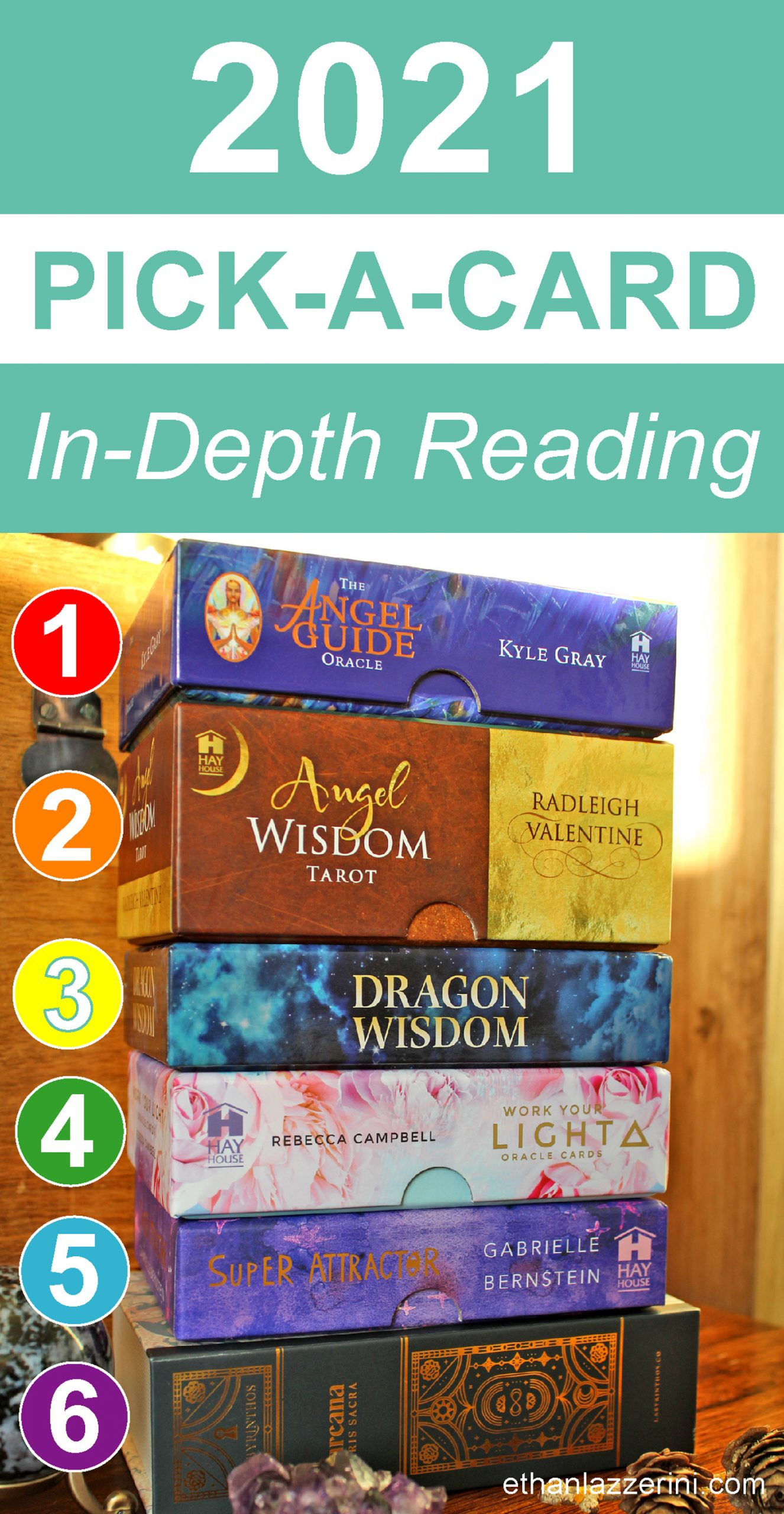 oracle cards and tarot decks used