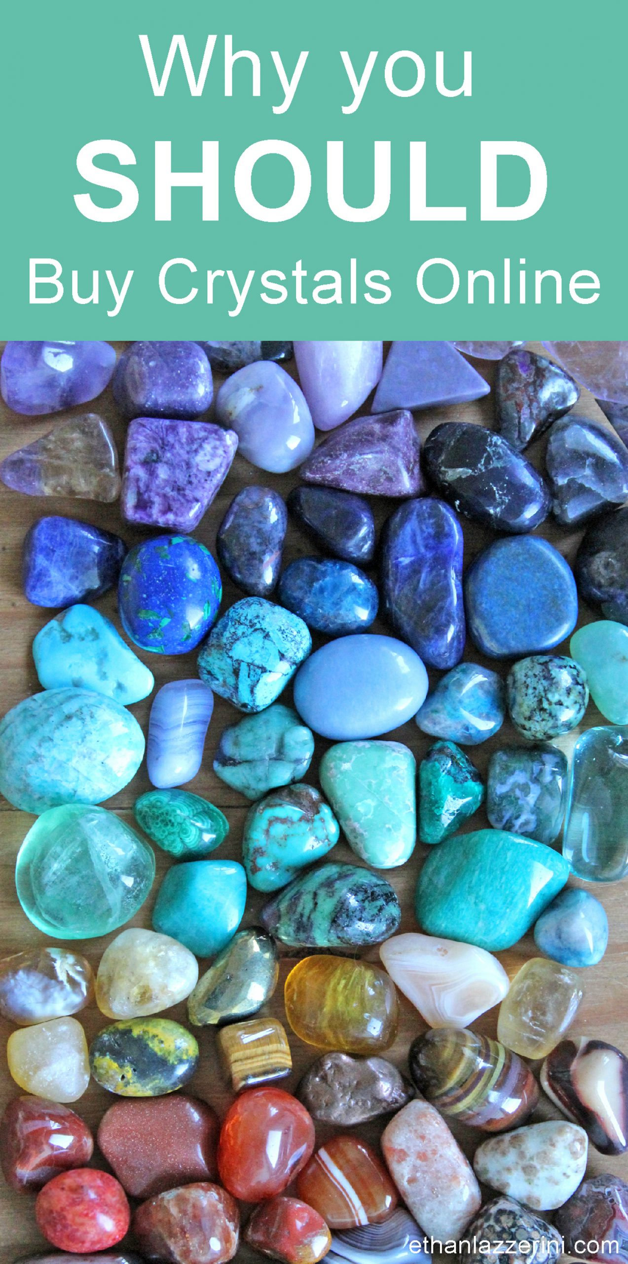 Tumble stone crystals in rainbow colours