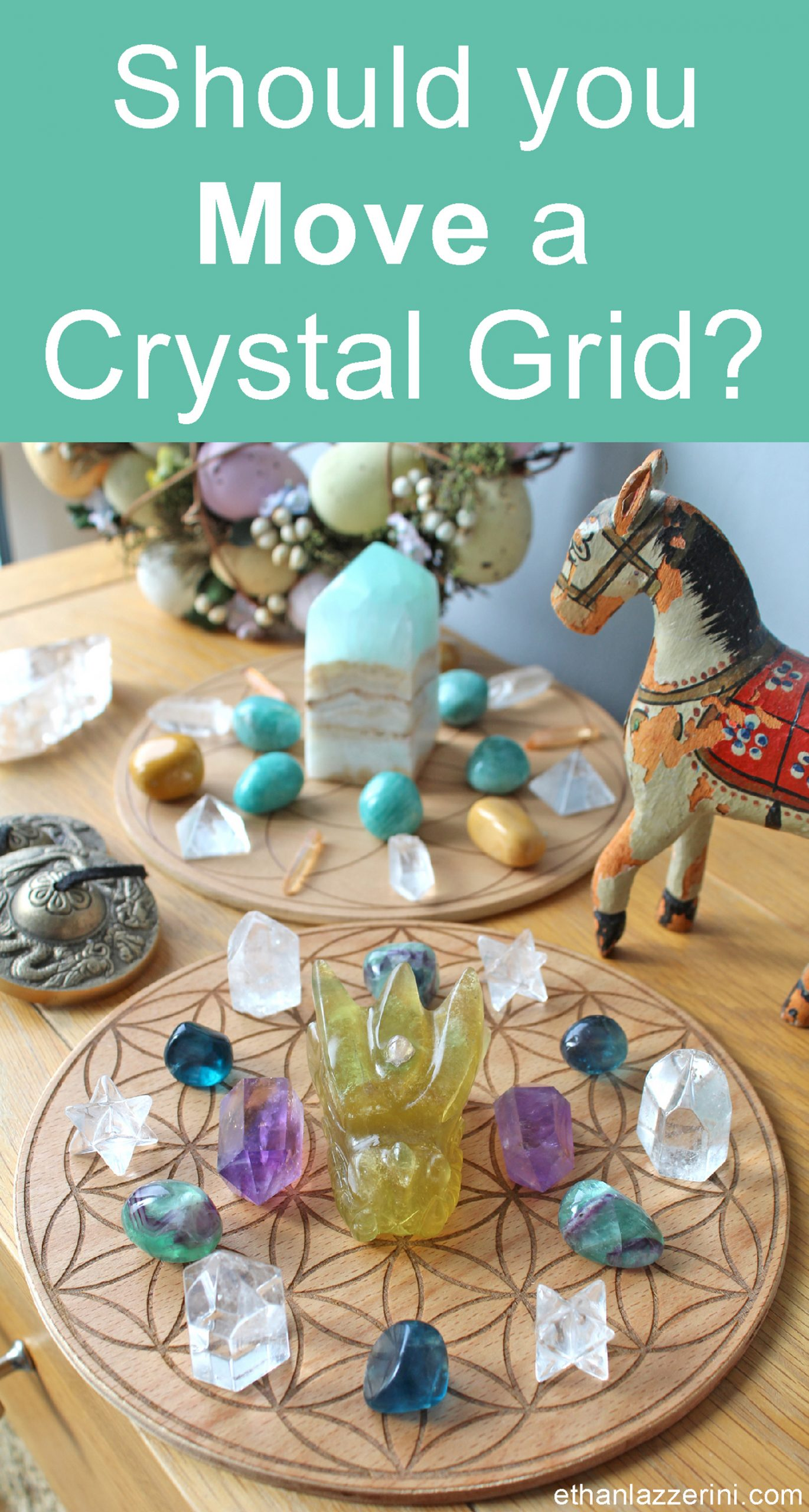 Two crystal grids. Text says Should you move a crystal grid?