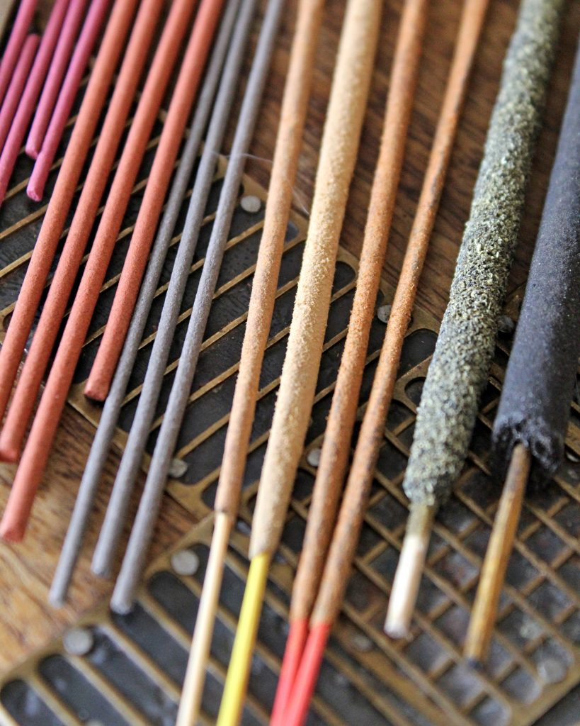 Different types of incense sticks